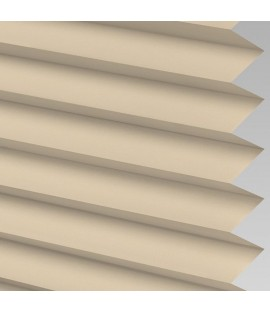 Beige Pleated Light Filtering Horizontal Blinds