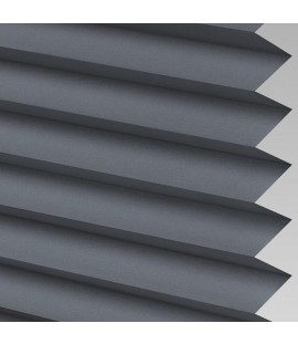 Charcoal Pleated Light Filtering Horizontal Blinds