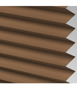 Coffee Pleated Light Filtering Horizontal Blinds