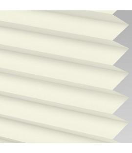 Cream Pleated Light Filtering Horizontal Blinds