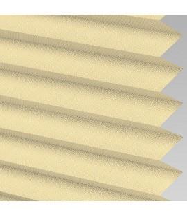 Mustard Pleated Light Filtering Horizontal Blinds