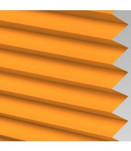 Orange Pleated Light Filtering Horizontal Blinds