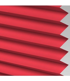 Red Pleated Light Filtering Horizontal Blinds