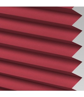 Wine Pleated Light Filtering Horizontal Blinds