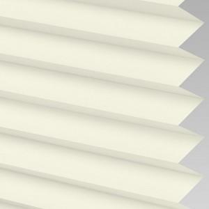 Cream Pleated Blackout Horizontal Blinds