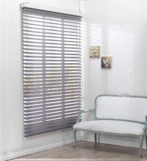Gray Sheer Horizontal Blinds