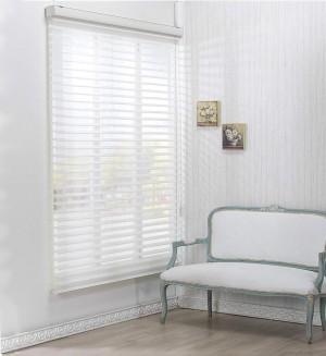 White Sheer Horizontal Blinds