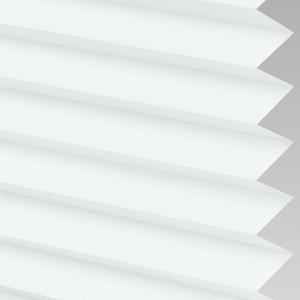 White Pleated Light Filtering Horizontal Blinds